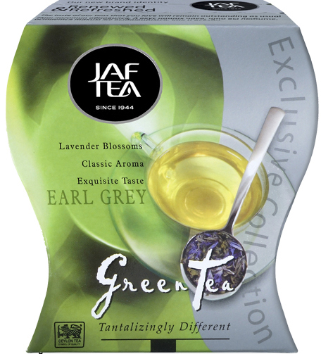 """JAFTEA зеленый чай """"Седой Граф"""" (Earl Grey) 100g"""