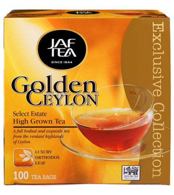 """JAFTEA черный чай """"Золотой Цейлон"""" (Golden Ceylon) 110 пакетиков по 2 гр."""