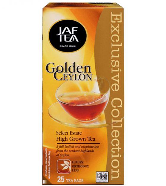 """JAFTEA черный чай """"Золотой Цейлон"""" (Golden Ceylon) 25 пакетиков по 2 гр."""