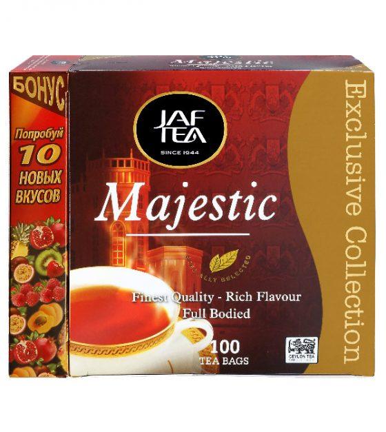 """JAFTEA черный чай """"Маджестик"""" (Majestic) 110 пакетиков по 2г"""