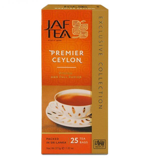 """JAFTEA черный чай """"Премьер Цейлон"""" (Premier Ceylon) 25 пакетиков по 1,5гр"""