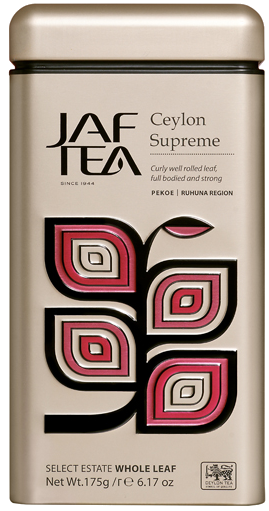 "JAFTEA черный чай ""Цейлон Суприм"" (Ceylon Supreme) жестяная банка 175g"