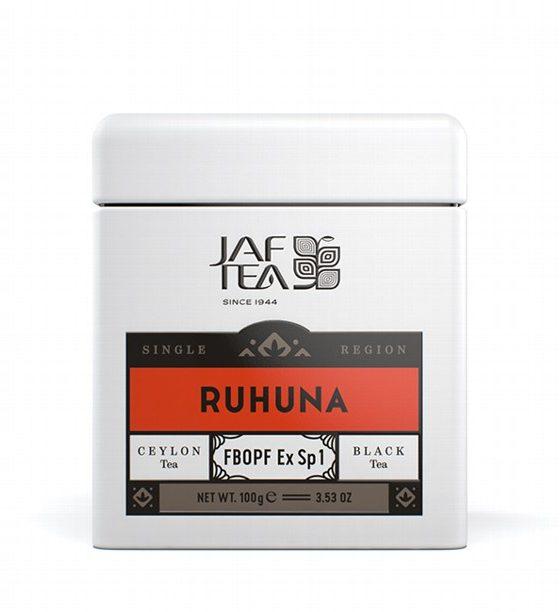 "JAFTEA черный чай ""РУХУНА"" (Ruhuna) FBOPF Extra Special жестяная банка 100g"