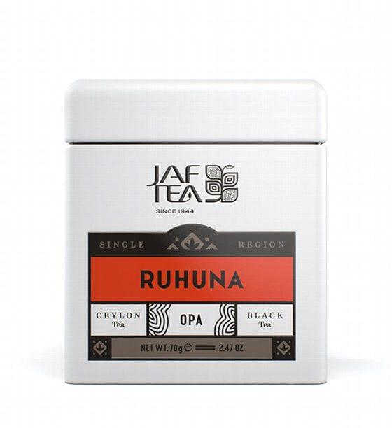 JAFTEA черный чай RUHUNA OPA (РУХУНА ОПА) жестяная банка 70g