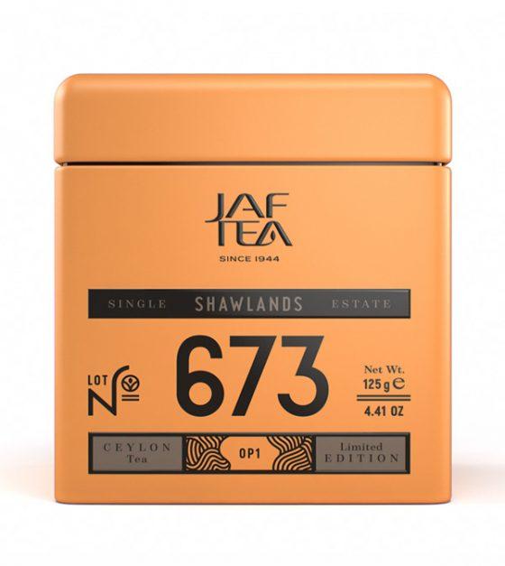 """JAFTEA черный чай №673 """"ШОУЛЭНДС"""" (SHAWLANDS) OP1 жестяная банка 90g"""