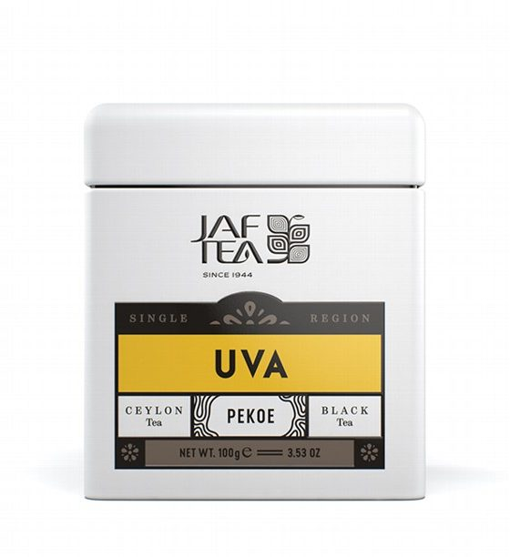 "JAFTEA черный чай ""УВА"" (Uva) Pekoe жестяная банка 100g"